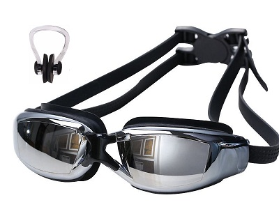 StreetDeal Other Deal: Unisex Flat or Myopia Swimming Goggles + Nose Clip