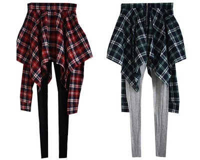 StreetDeal Fashion & Accessories Deal: 63% OFF Korean Style 2-In-1 Checkered Legging. Only RM48 instead of RM128.