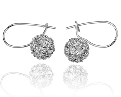 StreetDeal Fashion & Accessories Deal: 18K White Gold Plated Ball Earrings