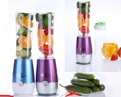 2 Bottles New Shake N Take Mini Blender