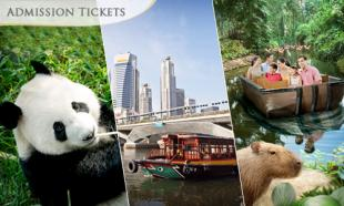 [Up to] 31% OFF Singapore: Asias First and Only River Themed Wildlife Park + Giant Panda Forest (Meet JiaJia & KaiKai) + Singapore River Cruise. Choose child / adult option.