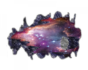 Creative 3D Galaxy Space Falling Stone Wall Decor Sticker