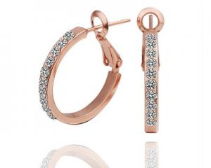 18K Plated Round Earrings
