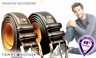 43% OFF Authentic Tommy Hilfiger Men's Genuine Leather Belt. Free Delivery Nationwide.