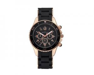 Timothy Stone Amber Watch Silicone Black/Pink Gold
