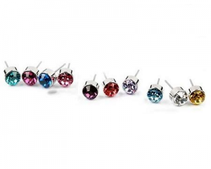 Swarovski Elements Ear Studs + Free Velvet Pouch