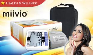 55% OFF MIIVIO JD-712B Automatic Blood Pressure Monitor with Memory + 2 Year Warranty! Free Delivery to Peninsula Malaysia.