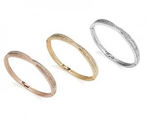 Crossover Bangles with Swarovski Elements