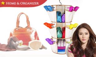 59% OFF Multipurpose 3-Tier Smart Carousel Organizer for Shoes, Bags and More! Free Delivery to Peninsula Malaysia.