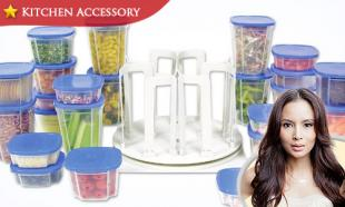 52% OFF 49-Piece Spin N' Store Multi-Sized Food Storage Containers + Spinning Organizer Base. Free Delivery to Peninsula Malaysia.