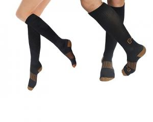 Long Copper-Infused Compression Socks (a pair)