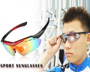 Sport Sunglasses with 5 Changeable Lens & 1 Frame