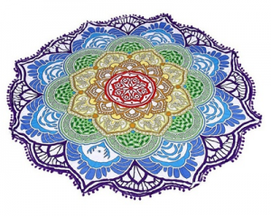 Lotus Flower Beach Blanket