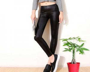 Slim Thin PU Leggings