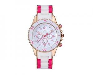 Timothy Stone Amber Watch Two-Tone White and Pink