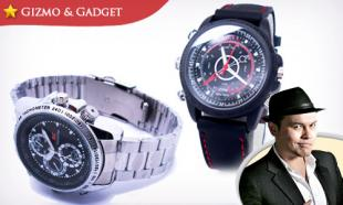 BLACK & RED SILICONE: 8GB Multi-Function Waterproof Spy Watch with Built-in Recording Camera + 1 Year Warranty! Free Delivery to Peninsula Malaysia.