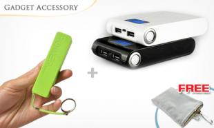 70% OFF 30,000mAh Torchlight Powerbank  + Mini Powerbank + Pouch with 1-year warranty. Free Delivery Nationwide!