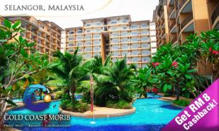 50% OFF Gold Coast Morib Promo for 2: 2D1N in Studio Suite with Private Bath & Jacuzzi + Buffet Breakfast + Dinner + Water Theme Park Admission. Valid throughout 2013!