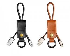 REMAX Genuine Leather Keychain Micro USB Cable