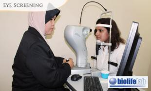 Eye Screening Package: RM 90 Instead of RM 150 For Visual Acuity (VA) + Objective Refraction + Non-mydriatic fundoscopy + Slit Lamp Examination at Biolife Lab, Bangsar South!