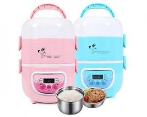 1.3L 3Layer Mutifunction Timer Lunch Box
