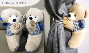 34% OFF Pair of Adorable Bear Curtain Buckle. Free Delivery to Peninsula Malaysia!
