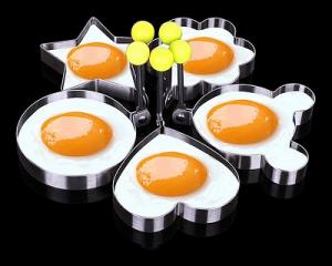 5PCS Stainless Steel Omelette Mould