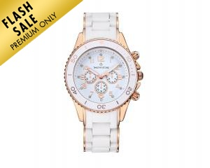 Timothy Stone Amber Watch Silicone White/Pink Gold