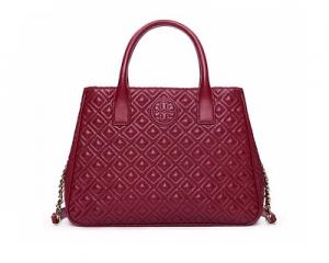 Tory Burch Marion Quilted Tote Red Agate
