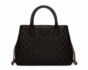Tory Burch Marion Quilted Tote Black
