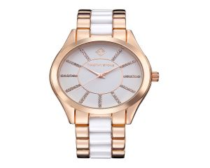 Timothy Stone Watch Charme Bicolor Pink Gold and White